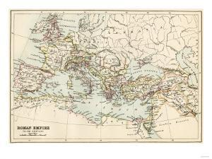 Map of the Roman Empire in the Third Century