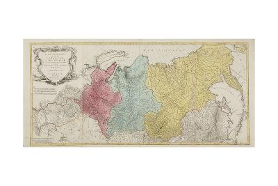 Map of the Russian Empire-Tobias Conrad Lotter-Giclee Print