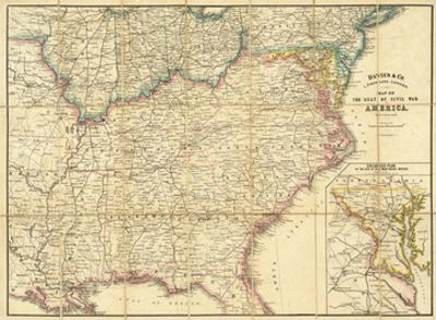 Map of the Seat of Civil War In America, c.1862