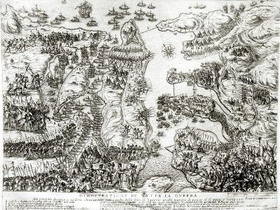 Map of the Siege of Malta in 1565--Giclee Print