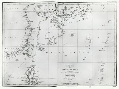 Map of the South China Sea, from the Itinerary of La Perouse, 1787--Giclee Print