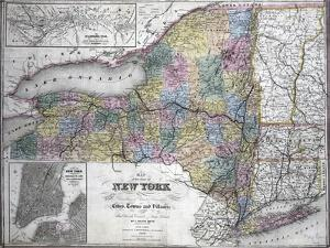 Map of the State of New York, 1850