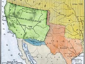 Map of the Territory Ceded by Mexico to the U.S. after the Mexican-American War, c.1848-1853