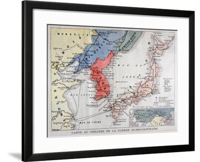 Map of the Theatre of the Russo-Japanese War, 1904-A Meunier-Framed Giclee Print
