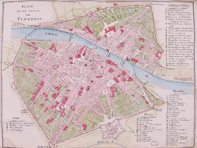 Map of the Town of Florence, 1812--Giclee Print