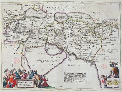 Map of the Travels of Alexander the Great-Willem And Joan Blaeu-Giclee Print