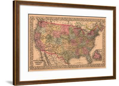 Map of the United States, c.1867