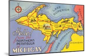 Map of the Upper Peninsula, Michigan