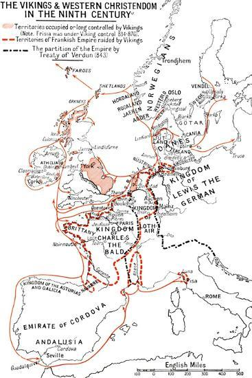 'Map of the Vikings & Western Christendom in the Ninth Century', (1935)-Unknown-Giclee Print