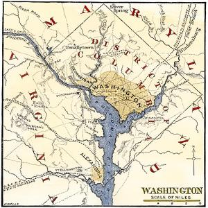 Map of the Washington DC Vicinity at the Outset of the Civil War