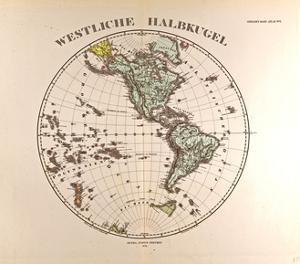 Map of the Western Hemisphere, 1872