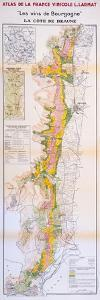 Map of the Wines of the Burgundy Region: Côte De Beaune