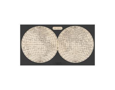 Map of the World, 1812-Aaron Arrowsmith-Art Print