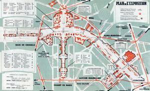 Map of the World Fair, Paris, 1937