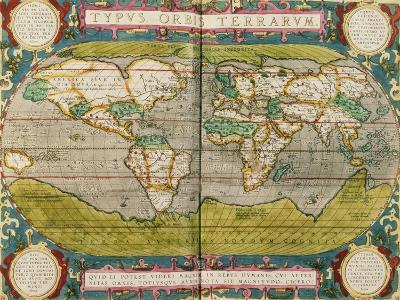 Map of the World, from an Atlas--Giclee Print