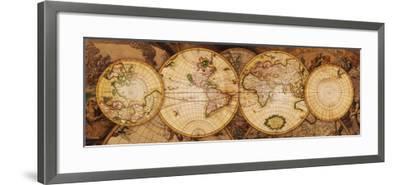 Map of the World: Nova Totius Terrarum Orbis--Framed Art Print