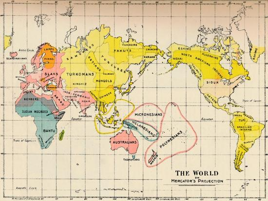 Map of the World on Mercator's Projection, 1902-Unknown-Giclee Print