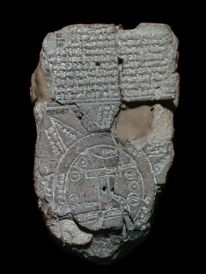 Map of the World, probably from Sippar, southern Iraq, Babylonian, c700-c500 BC-Unknown-Giclee Print