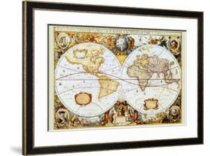 World maps framed posters artwork for sale posters and prints at map of the world gumiabroncs Gallery