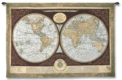 Map of the World-Mary Elizabeth-Wall Tapestry