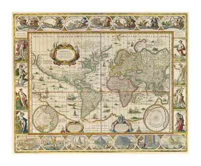Map Of The World-Richard Blome-Premium Giclee Print