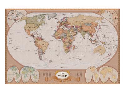 Map of the World--Art Print
