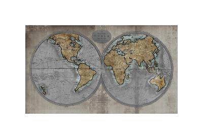 Map of the World-Russell Brennan-Giclee Print