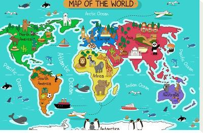 Map of the World-Artisticco LLC-Stretched Canvas Print