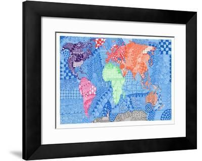 Map of the World-Georgina Naisbitt-Framed Giclee Print