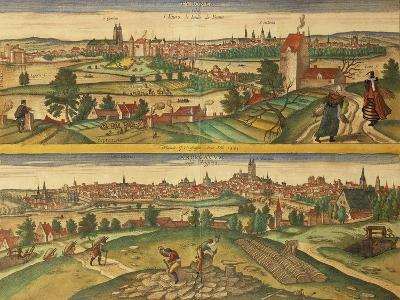 Map of Tours and Angers from Civitates Orbis Terrarum--Giclee Print