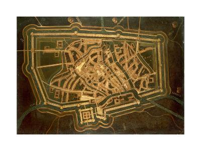 Map of Treviso, Italy--Giclee Print