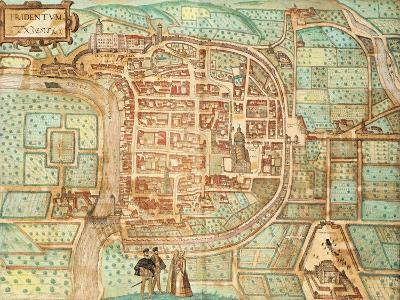 Map of Tridentum-Georg Braun and Franz Hogenberg-Giclee Print