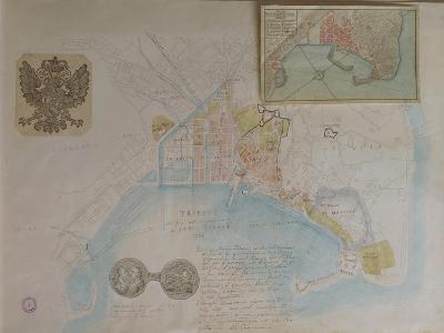 Map of Trieste, Italy--Giclee Print