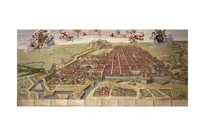 Map of Turin, from Theatrum Sabaudiae-Joan Blaeu-Giclee Print