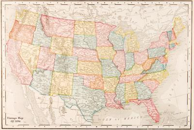 Map Of USA- Vintage