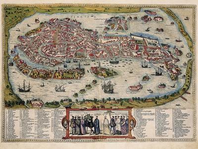 photo regarding Printable Map of Venice identified as Map of Venice Artwork Print via Abraham Ortelius