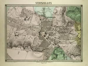 Map of Versailles, France