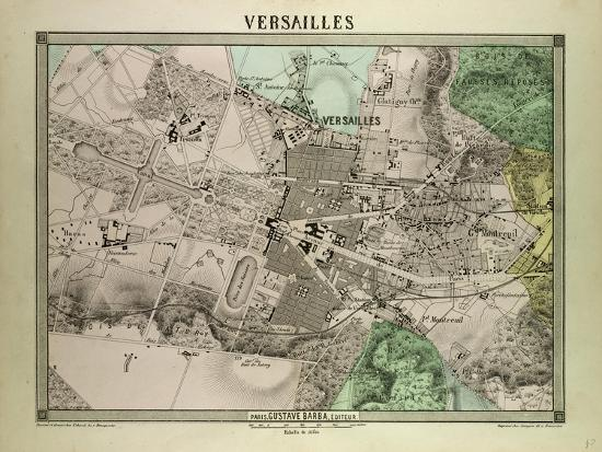 Versailles Map Of France.Map Of Versailles France Giclee Print By Art Com