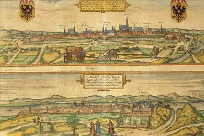 Map of Vienna and Buda from Civitates Orbis Terrarum--Giclee Print