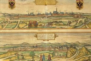 Map of Vienna and Buda from Civitates Orbis Terrarum