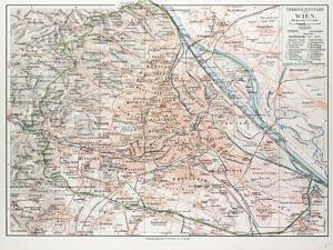 Map of Vienna Austria 1899