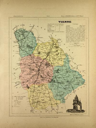 Map of Vienne France--Giclee Print