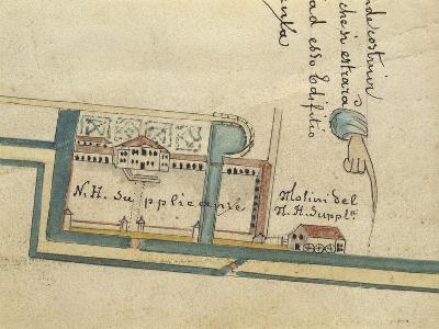 Map of Villa Contarini at Piazzola Sul Brenta, Padua Province--Giclee Print