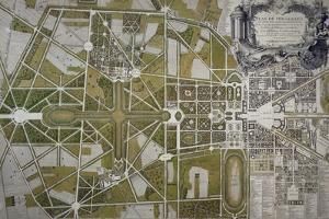 Map of Villa Mansi and its Gardens in Capannori (Tuscany), Italy, 18th Century