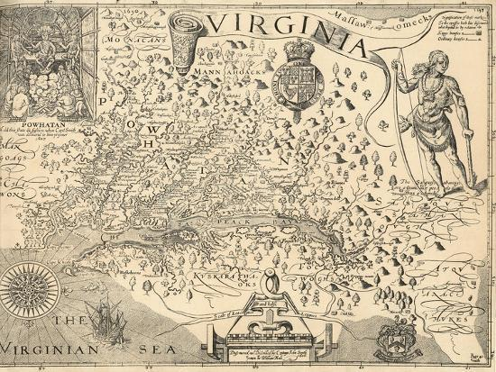 Map of Virginia-William Gilmore Simms-Giclee Print