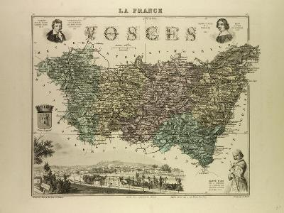 Map of Vosges 1896, France--Giclee Print