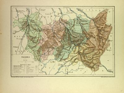 Map of Vosges France--Giclee Print