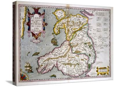 Map of Wales, Published c.1630-Jodocus Hondius-Stretched Canvas Print