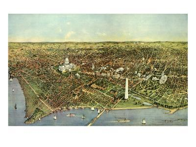 Map of Washington D.C., 1892--Giclee Print