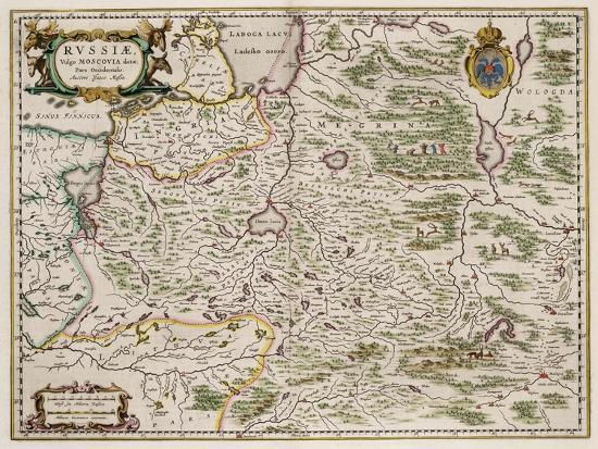 Map of Western Russia (From: Partes Septentrionalis Et Orientali), 1664-Isaac Abrahamsz Massa-Giclee Print